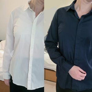 2 United Color of Benneton button-down shirts, M